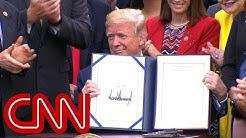 Trump signs veterans' health care bill