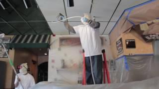 Vinyl Ceiling Tile Cleaning
