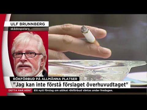Ulf Brunnberg om det nya rökförbudet: Det här är ju patetiskt - Nyheterna (TV4)
