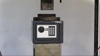 Hydraulic Press Crush a Safe Deposit-Box