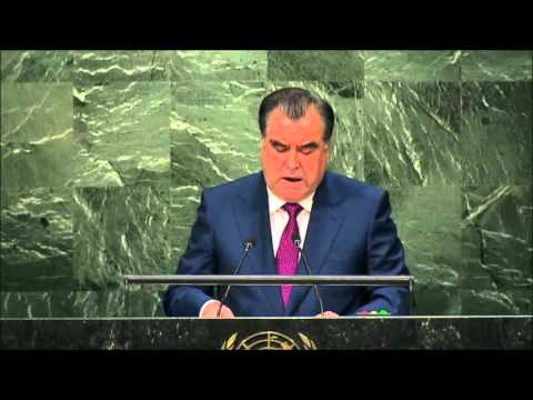 Tajikistan President: Emomalii Rahmon Full Speech at the UN (English)-  29th September, 2015