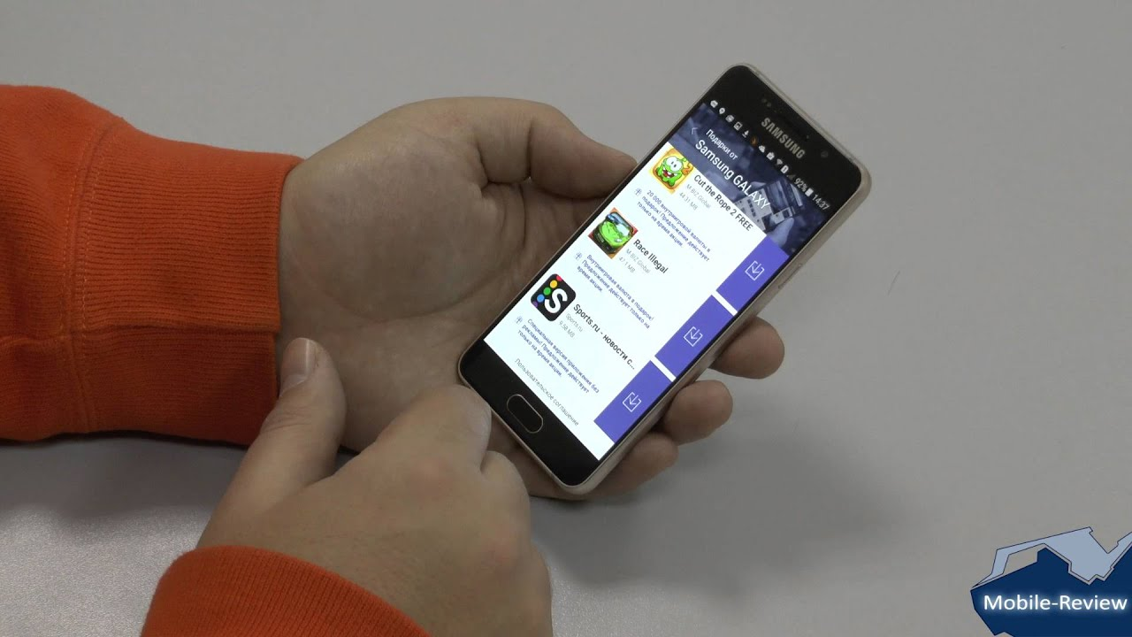 Смартфон Samsung Galaxy A3 Duos SM-A300H/DS Обзор - Металлический .