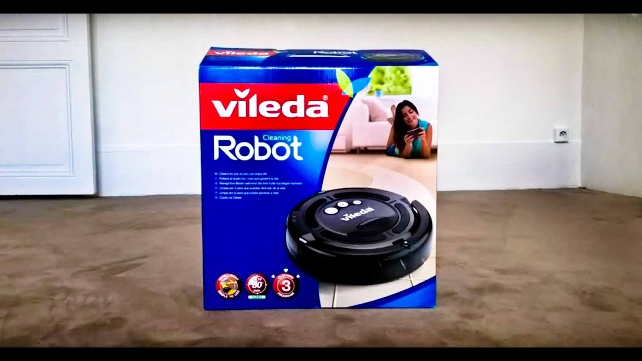 vileda vacuum cleaner robot in test youtube. Black Bedroom Furniture Sets. Home Design Ideas