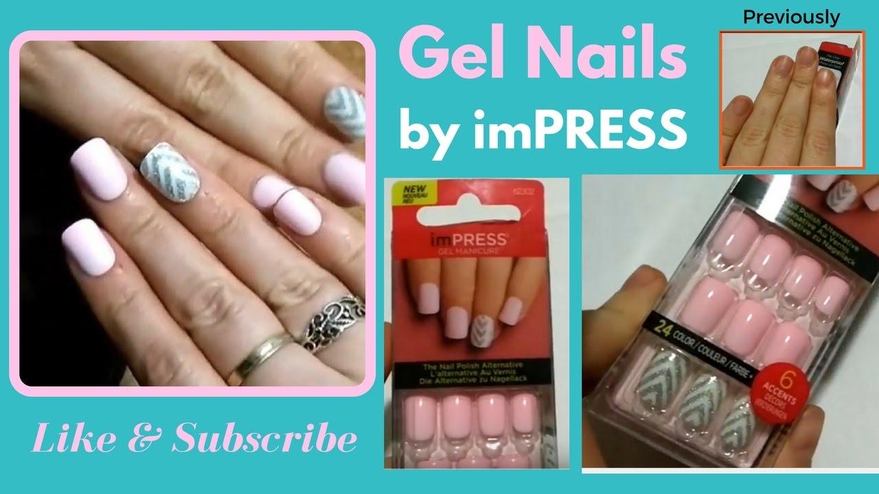 Gel nails by Impress (fake nails) - YouTube