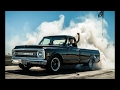 MASSIVE 1971 chevy c10 burnout (GONE WRONG)(TIRE BLOWN)