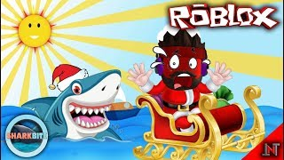 ROBLOX Indonesia #70 Shark Bite | Santa Claus in the SHARK-stealth chase
