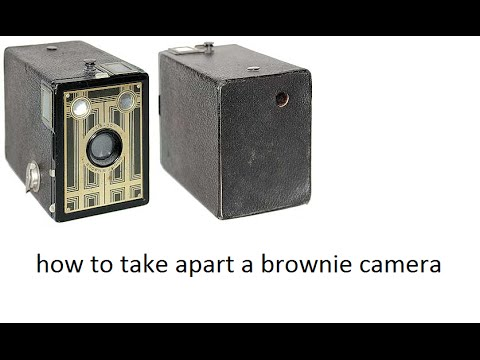 How to take apart a brownie camera