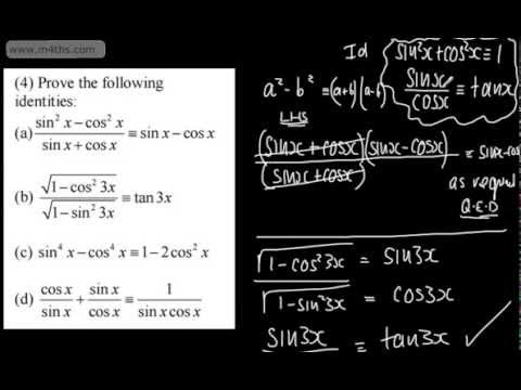 Core 2  - Trigonometry 1 - Introduction to Identities AS Maths A2 mathematics OCR, AQA, Edexcel