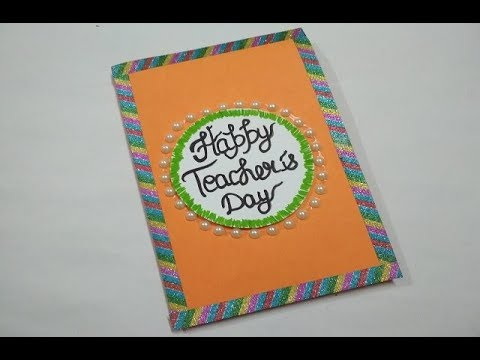 Diy Teacher S Day Card Handmade Teacher S Day Card Making Idea