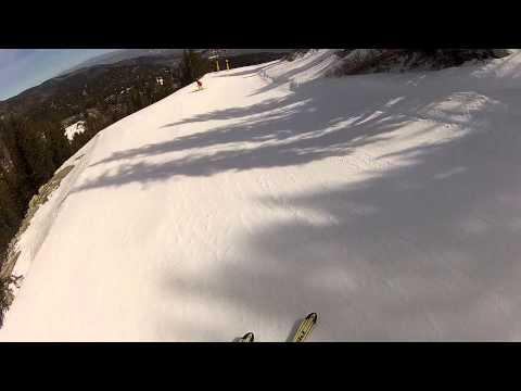 Speed Skiing Down A Black Run!!!
