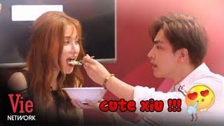 Kin Nguyễn chăm sóc ngọt ngào, đút đồ ăn tình tứ cho Thu Thủy trong cánh gà l Ơn Giời Cậu Đây Rồi #3