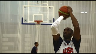 Kobe Bryant and LeBron James for Team USA Basketball