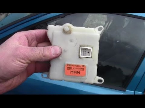 How To Remove Install Heater Blend Door Actuator
