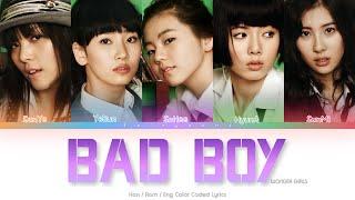 Wonder Girls (원더걸스) Bad Boy Color Coded Lyrics (Han/Rom/Eng)