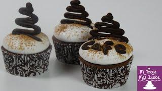Cupcakes de café capuchino con dulce de leche