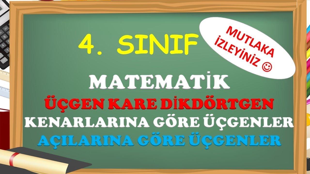 4. Sınıf Matematik Geometrik Şekiller ve Üçgenler- Yardımcı Öğretmen