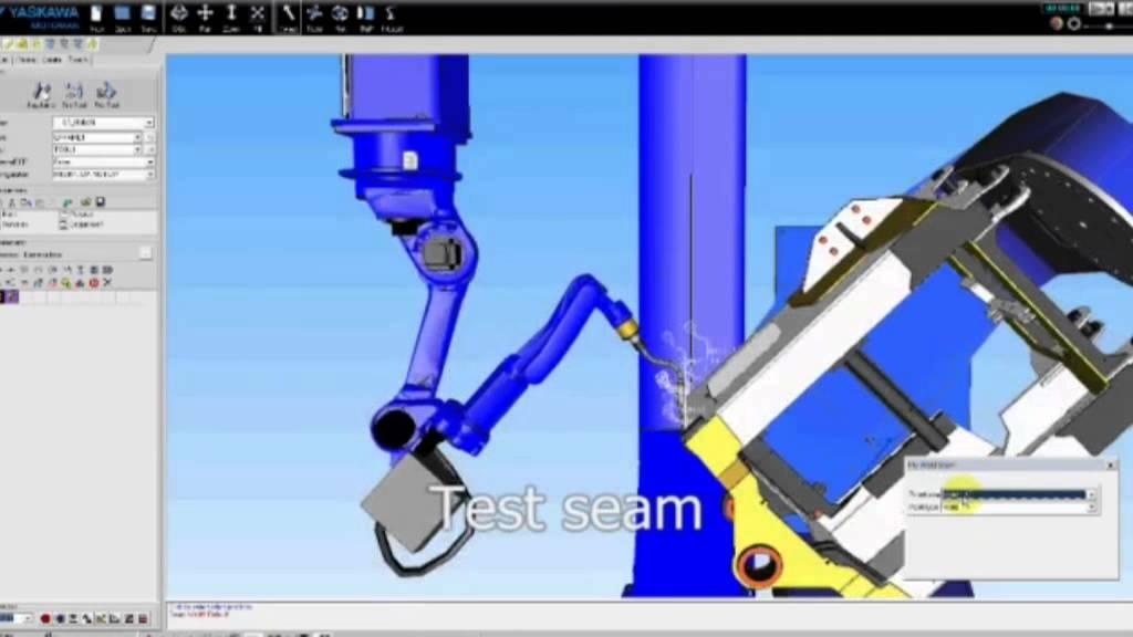 Delfoi off-line programming of a Motoman arc welding robot