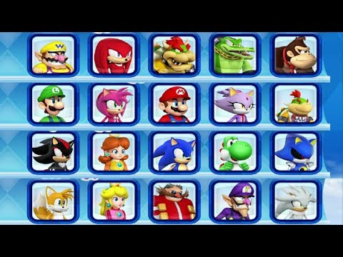 Mario & Sonic at the Sochi 2014 Olympic Winter Games - All Characters