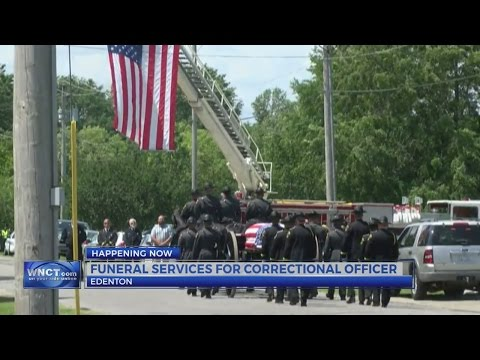 Funeral scheduled for North Carolina correctional officer