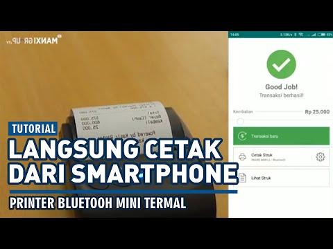 TUTORIAL :  PRINTER BLUETOOTH MINI THERMAL // Cetak Mudah Langsung Dari Smartphone | MANXI GROUP
