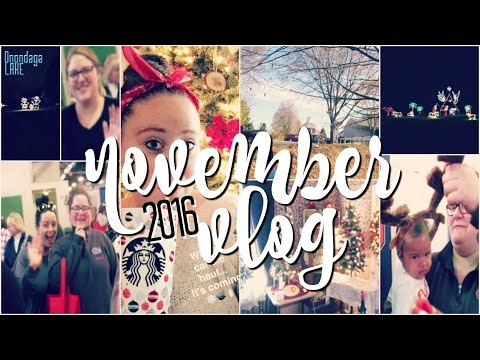 LIGHTS ON THE LAKE, HOLIDAY SHOPS w/ FRIENDS, & OCTAGON HOUSE | kaciecuse VLOGS 2016: 11/14-11/20
