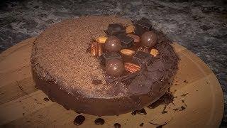 Шоколадный торт на РАЗ ДВА ТРИ!  Шоколадный бисквит. Простой легкий и очень вкусный.