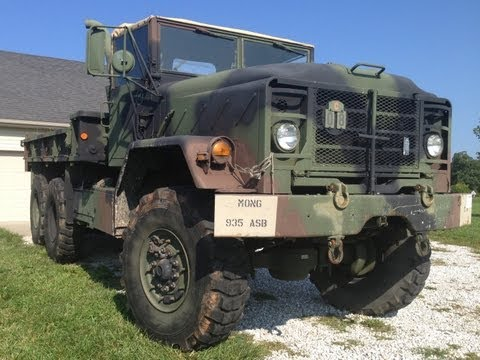 M923A2 5-Ton 6x6 Cummins 8 3L Turbo Diesel - YouTube