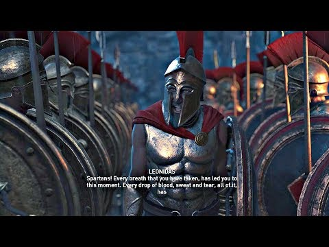 Assassin's Creed Odyssey - All Leonidas & 300 Spartans Cutscenes (PS4 Pro)