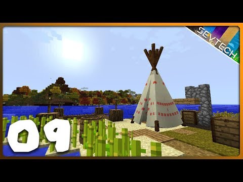 Minecraft: SevTech Ages || FIRST TIPI SLEEP! || Ep 09 - YouTube