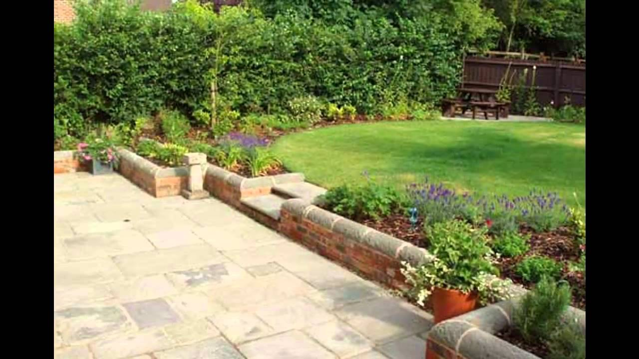 Simple Small family garden design - YouTube
