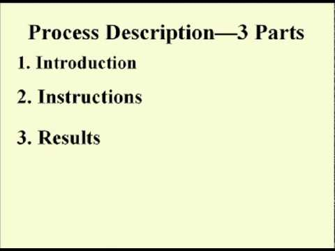 ENG 352 Technical Writing - 35 - Instructions and Process Descriptions