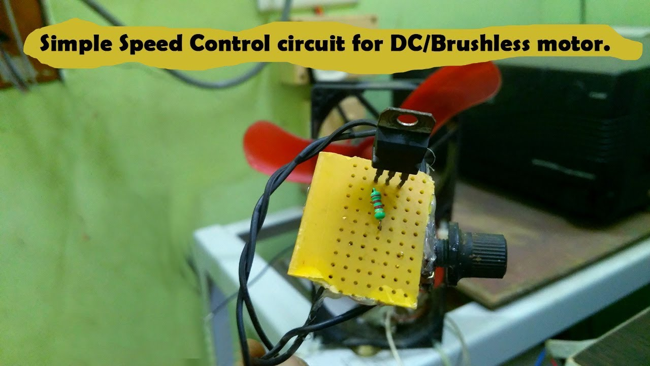 Diy Simple Speed Control Of Dc Motor Using Lm317 Youtube Adjustable Voltage Regulator Lm317t Rs1600 Online