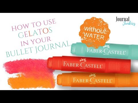 How to use Faber Castell Gelatos in your Bullet Journal