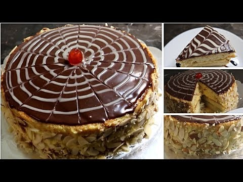 Custard Filled Cake Recipe - Boston Cream Pie Recipe By (Cook With Madeeha)