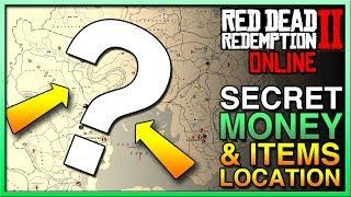Red Dead Redemption 2 Online SECRET MONEY & ITEMS LOCATION - RDR2 Online MONEY - Red Dead Online