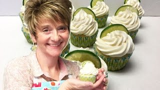 My Birthday Cupcakes - Key Lime Cupcakes With Key Lime Filling And Frosting Tutorial