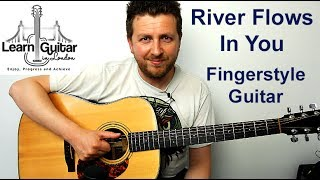 River Flows In You - Guitar Tutorial - Fingerstyle - No Capo - FREE TAB - Drue James
