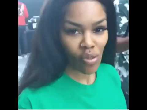 TEYANA TAYLOR showing up at her Album Listening produced by KANYE WEST