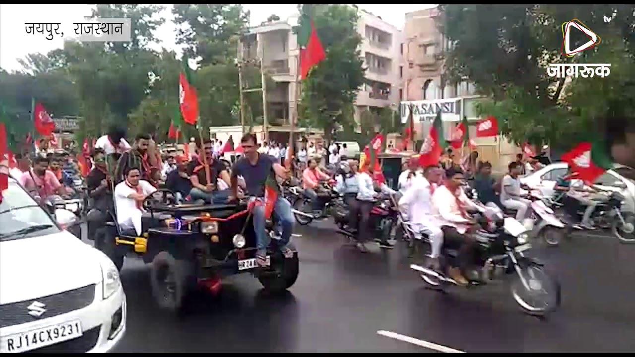 जयपुर : अमित शाह का जोरदार स्वागत
