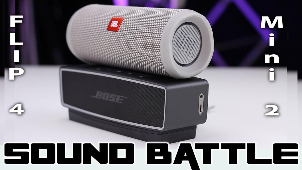 JBL Flip 4 vs Bose SoundLink Mini 2  SoundBattle - The real sound  comparison (Binaural Recording) 7960a197f3598