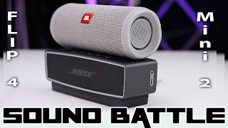 JBL Flip 4 vs Bose SoundLink Mini 2 :SoundBattle - The real sound comparison (Binaural Recording)