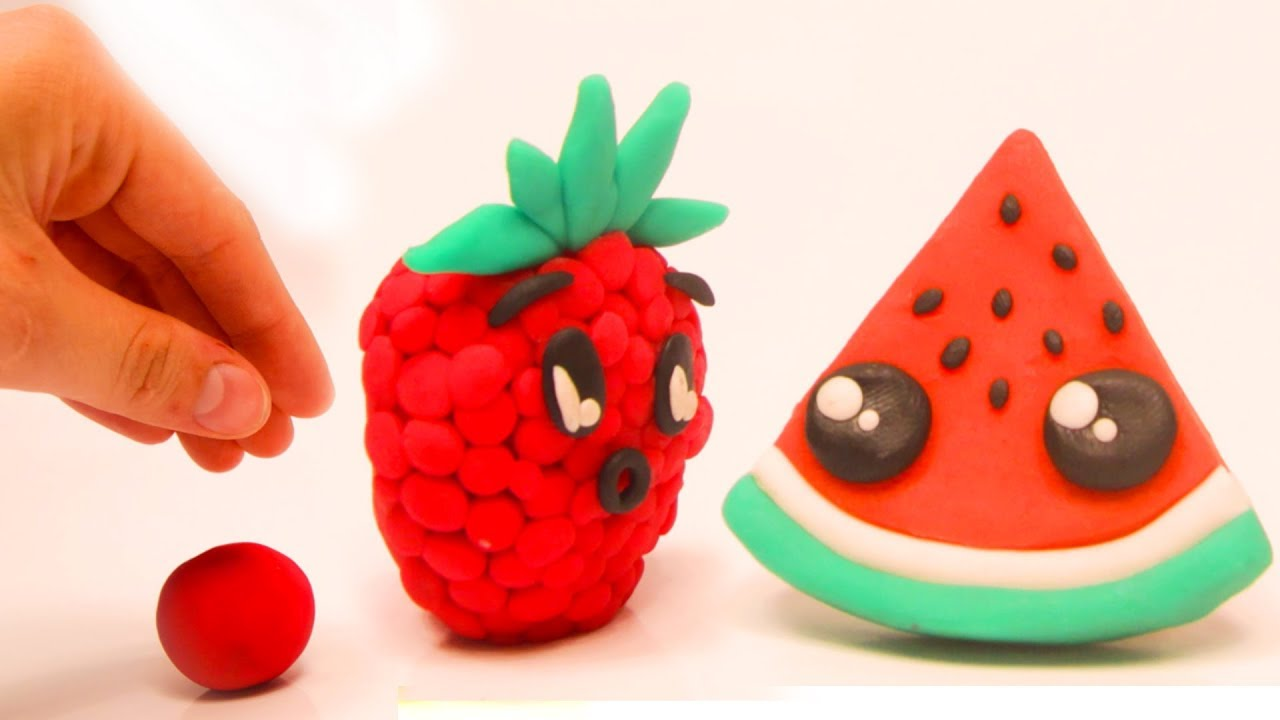 DibusYmas Fruits clay Stop motion cartoons for kids - YouTube