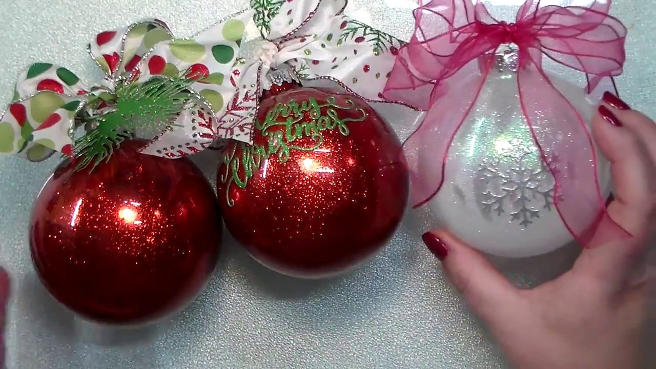 Nuvo Glitter Christmas Ornaments