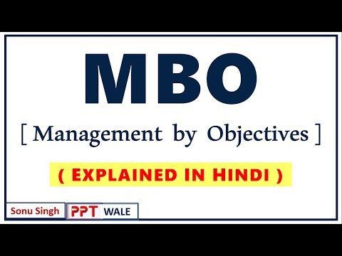 MBO (Management By Objectives) IN HINDI |  Principles Of Management | BBA/MBA | Ppt