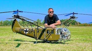 SPECTACULAR STUNNING !!! GIANT RC FOCKE ACHGELIS FA-223 DRAGON SCALE MODEL HELICOPTER FLIGHT DEMO