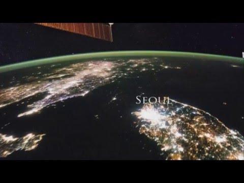 Северная Корея  ночью из космоса