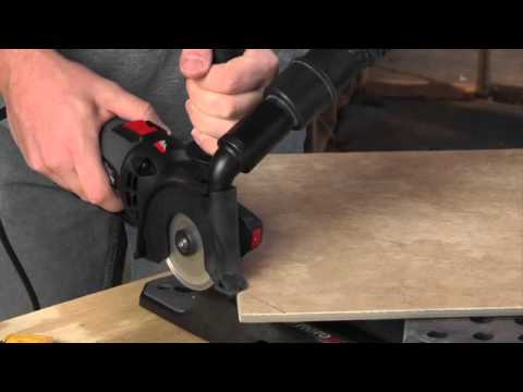 Making A Straight Cut In Tile With The Rotozip Rotosaw