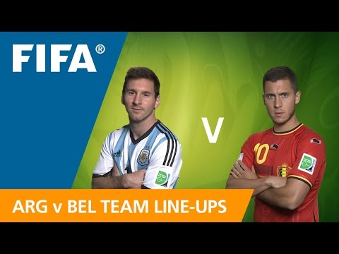Argentina v. Belgium Team Line-ups EXCLUSIVE