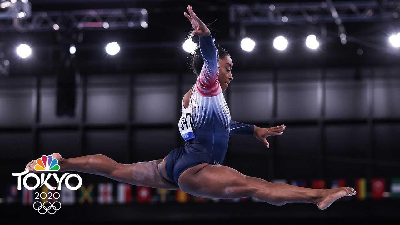 Simone Biles wins bronze medal on balance beam in return to ...
