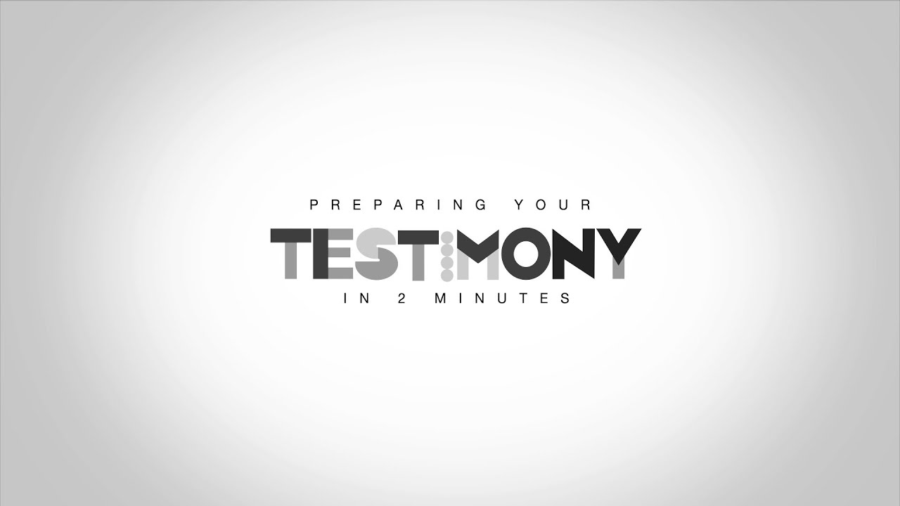 writing your testimony A time-honored, effective method of evangelism is the giving of your personal  testimony no big deal just telling about your spiritual pilgrimage.